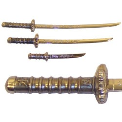 Set of 3 samurai mini-weapons