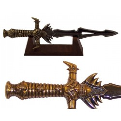 Miniature of Loki's dagger with wooden support (26cm)