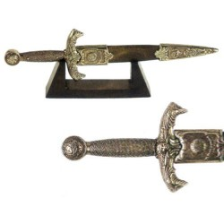 Miniature of King Arthur's dagger with wooden support (28cm)