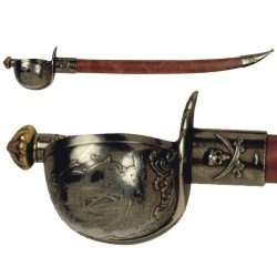 "Hayreddinn Barbarossa ""Redbeard"" 1478-1546 pirate sabre, turkey 16th C."