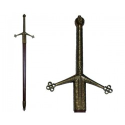 """Claymore"" two-handed sword, with scabbard (128cm)"