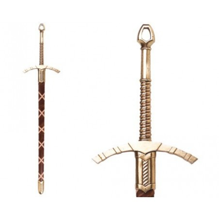 Medieval sword, 14th century, with scabbard (123cm)