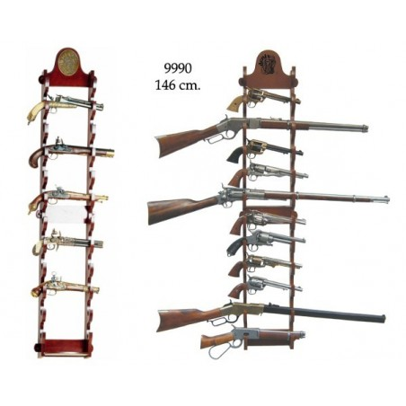 Wall stand for 12 weapons (146cm)