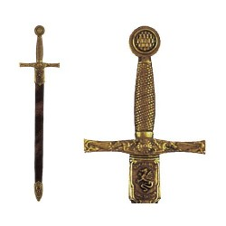 Letter opener Excalibur sword with scabbard (27cm)