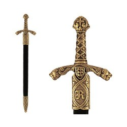 Letter opener Richard the Lionheart sword with scabbard (27cm)