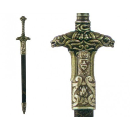 Letter opener sword of Barbarian Warrior with scabbard (28cm)