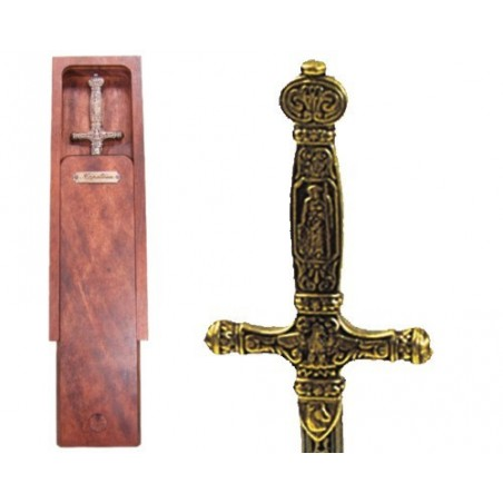 Letter opener Napoleon's sword with wooden box (26cm)