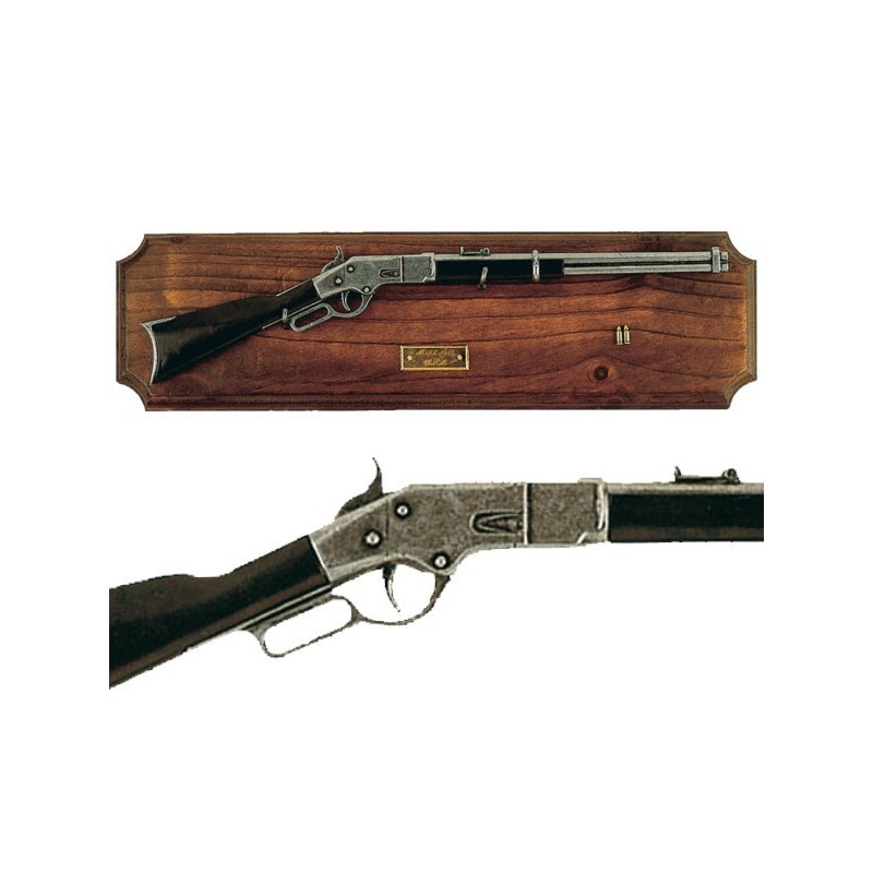 Miniature rifle Winchester with wooden support (39cm)