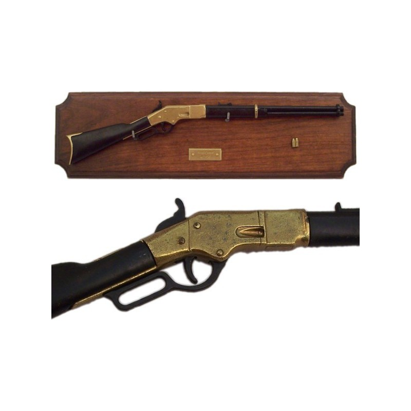 miniature rifle winchester with wooden support 39cm