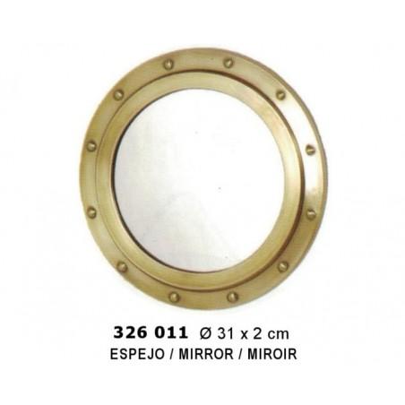 Espejo portillo de latón ø31 cm