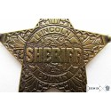 Placa de Sheriff 5 puntas (6.5cm)