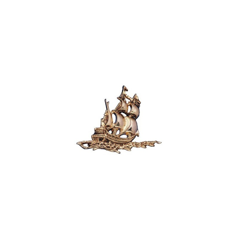 Gilded ABS sailboat - 170x130x12mm
