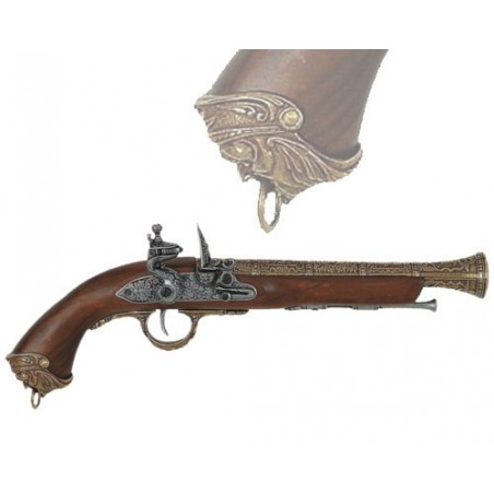 Flintlock pirate pistol, Italy 18th. century