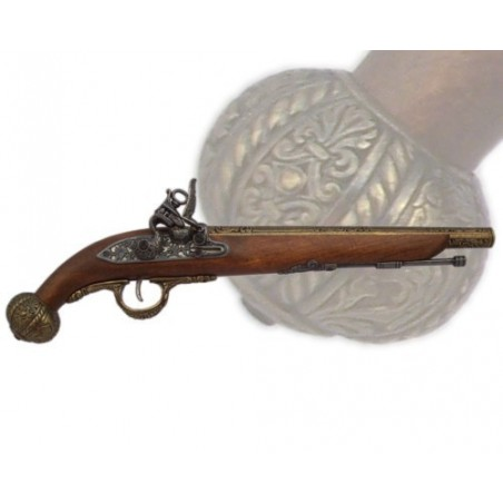 Flintlock pistol, Germany 18th. century (43cm)