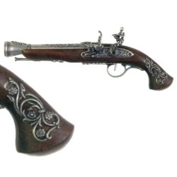 Percussion pistol (left-handed), 18th century (38cm)