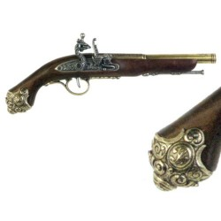 Percussion pistol, 18th century (38cm)