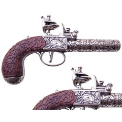 Flintlock pocket pistol, London 1795 (19.5cm)