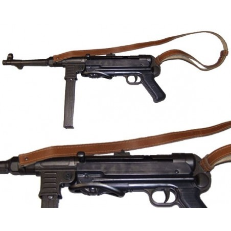 MP40 sub-machine gun, Germany 1940. With leather belt.