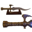 Miniature of barbarian warrior dagger with wooden support (26cm)