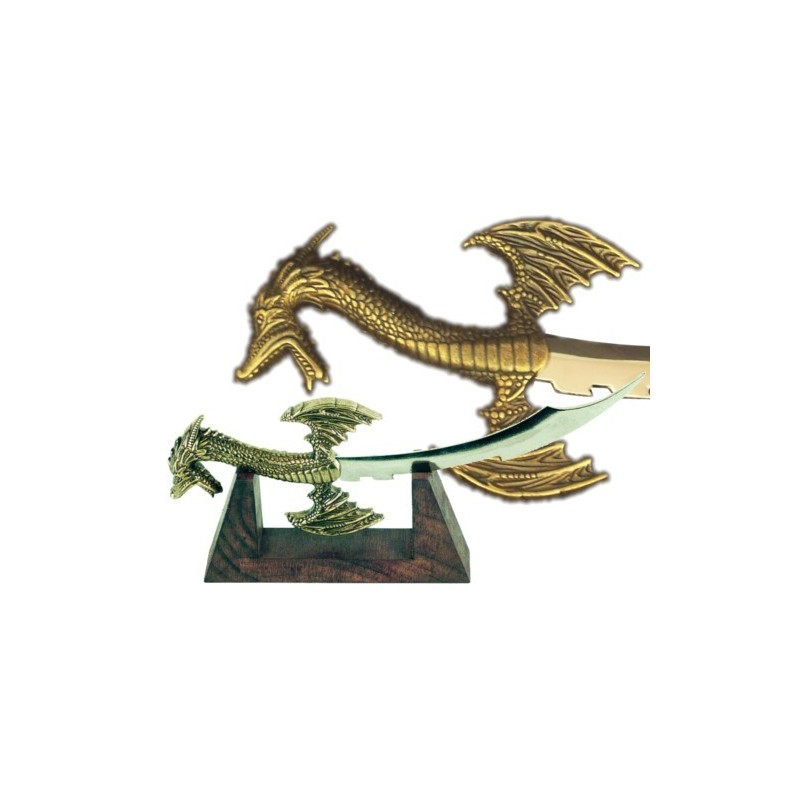 Miniature of Sigurd's dagger with wooden support (26cm)