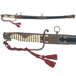 Official Japanese sword Kyu gunto, with scabbard (87cm)