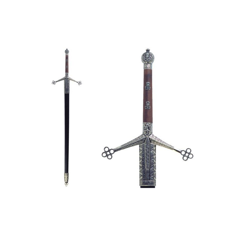 """""""Claymore"""" two-handed sword, with scabbard (128cm)"""