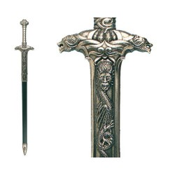 Sword of barbarian warrior, with scabbard (117cm)