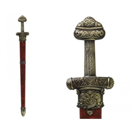 Viking sword Erik the Red, with scabbard (107cm)