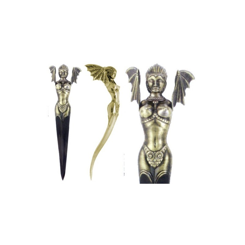 Fantastic winged woman dagger (38cm)