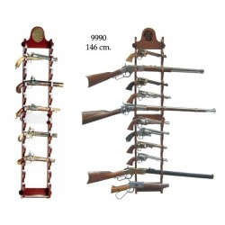 Expositor de pared para 12 armas (146cm)