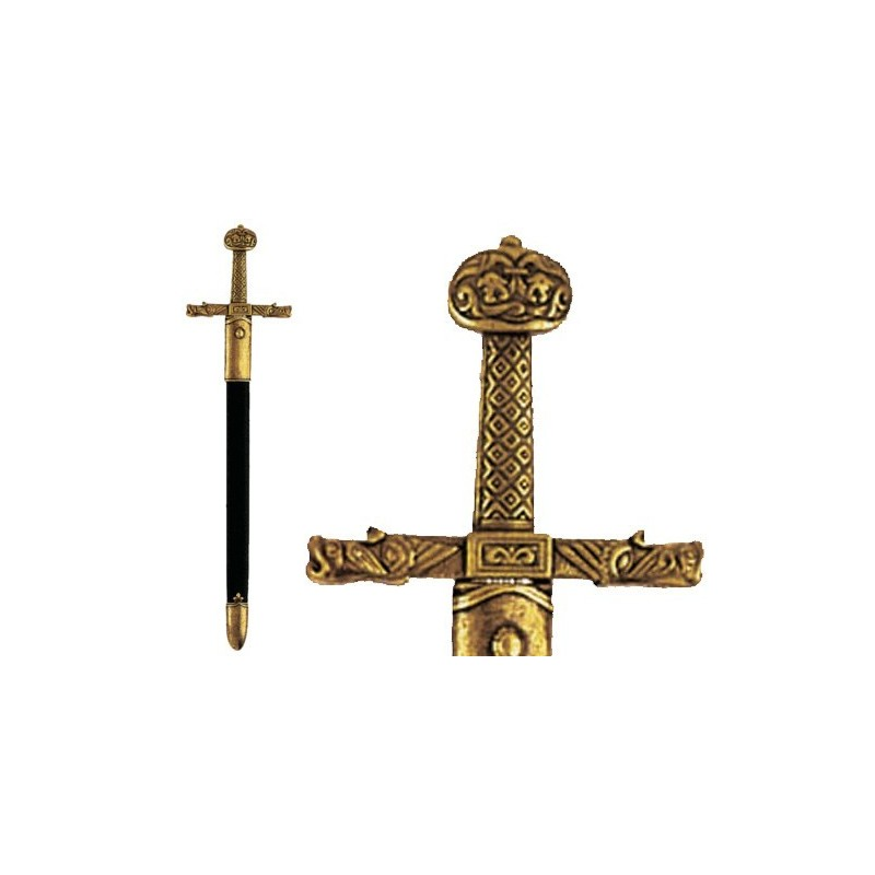 Charlemagne sword letter opener with scabbard (26cm)