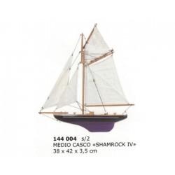 "Medio velero ""Shamrock IV"" para pared 42x38x3.5cm"