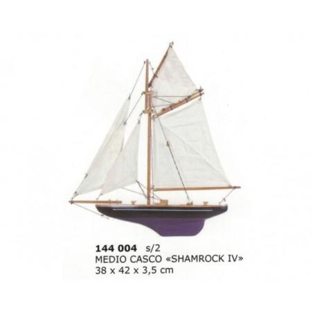 """Half hull sailing boat """"Shamrock IV"""" 42x38x3.5cm"""