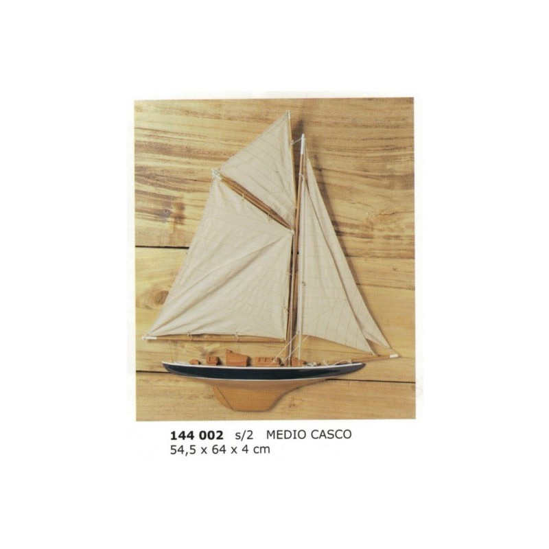 Medio velero para pared 64x54x4cm