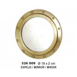 Brass round porthole ø18cm with mirror