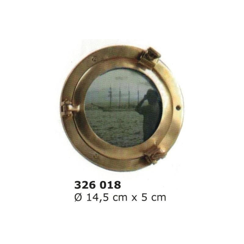 Brass porthole photo frame ø14 cm