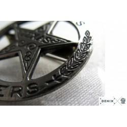 Texas Rangers circle star cut-out badge (4cm)