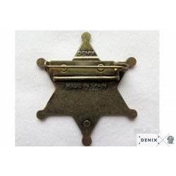 Placa Sheriff 6 puntas (4.5cm)