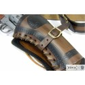 Leather cartridge belt for two revolvers (112cm)