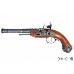 Flintlock pistol (left-handed), India 18th. C. (36cm)