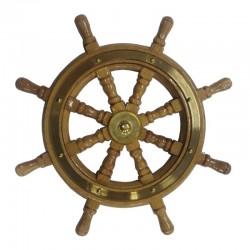 Rudder wheel of wood Ø90mm (125x125x12mm)