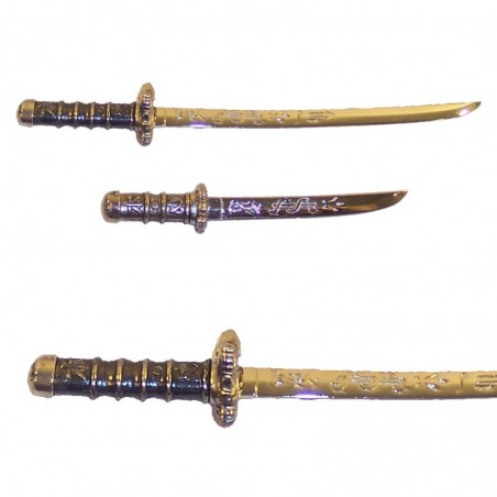 Set of 2 samurai mini-weapons