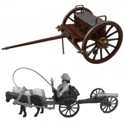 Cannon munitions cart,...
