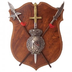 Panoply with shield, sword...