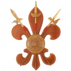Panoplia con escudo y 3 alabardas