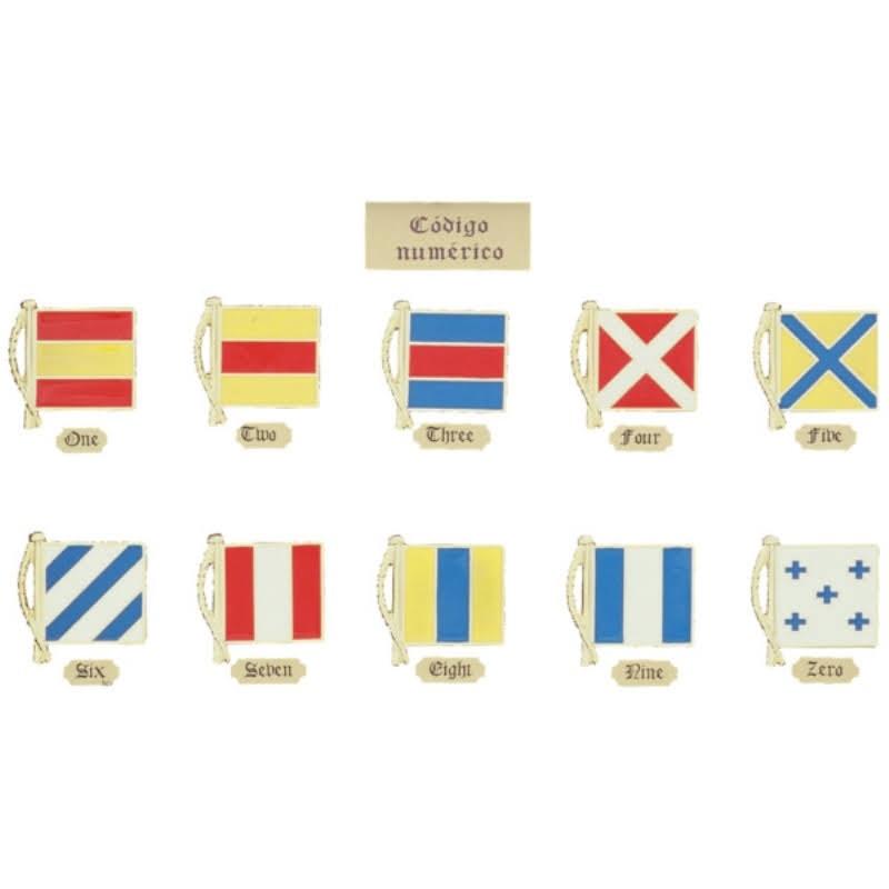 Banderas señales náuticas miniatura