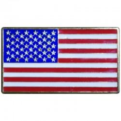 Bandera USA metal