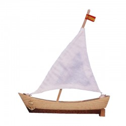Barco vela miniatura