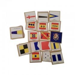 Miniature cardboard nautic flags