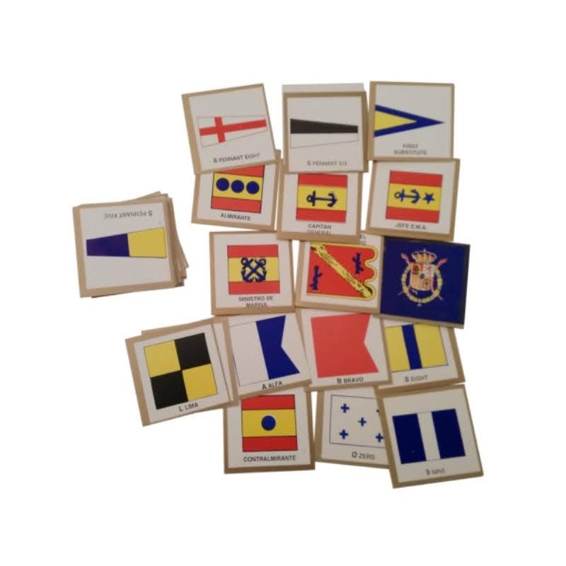 Banderas de señales náuticas miniatura cartulina